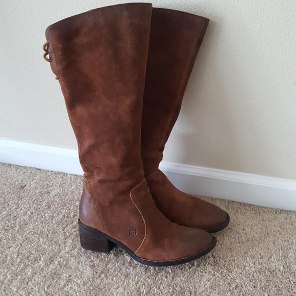 Born Felicia Knee High Boots 8m Rust
